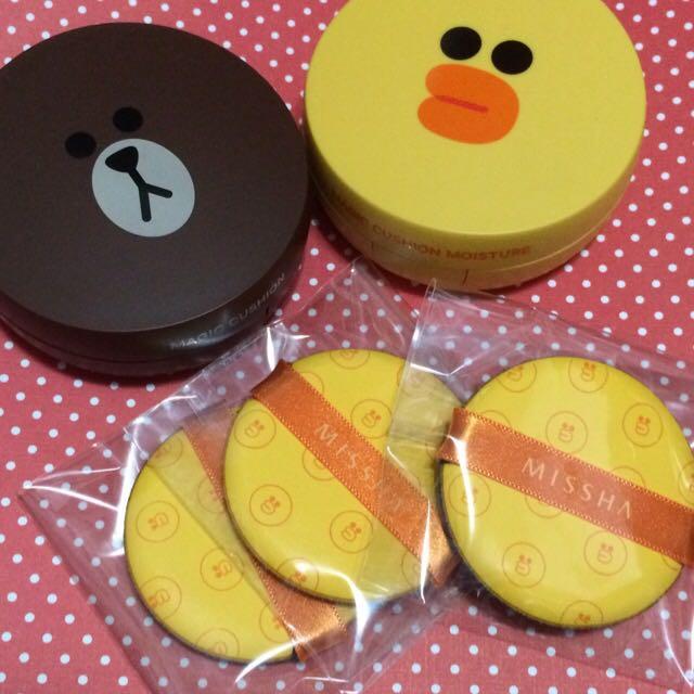 MISSHA X LINE聯名氣墊粉餅補充粉撲 莎莉 金盒
