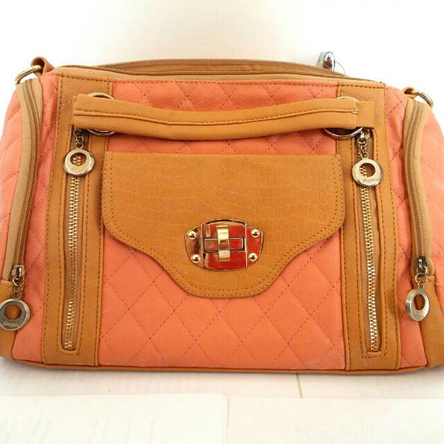 No Brand Peach Hand Bag