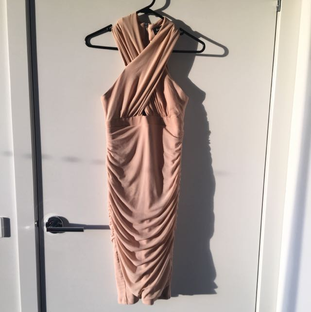Nude Bardot Dress