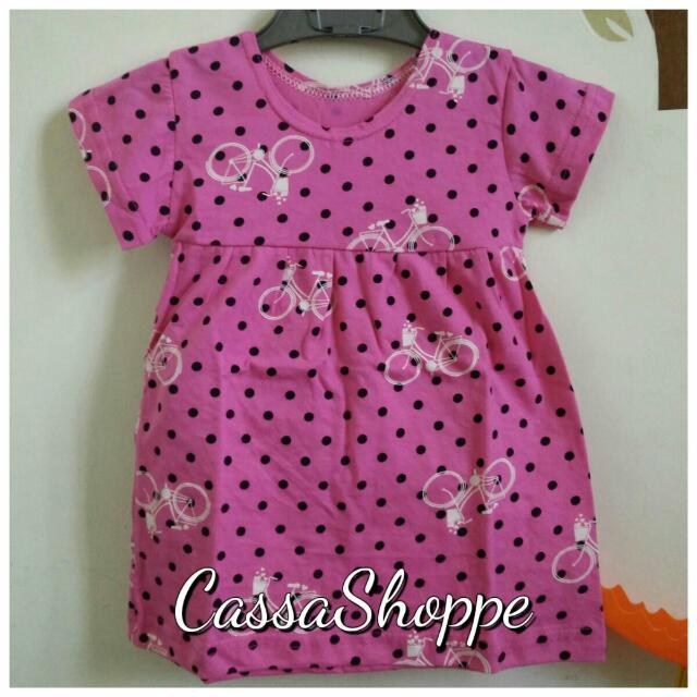 Simple Dresses Pink Bicycle
