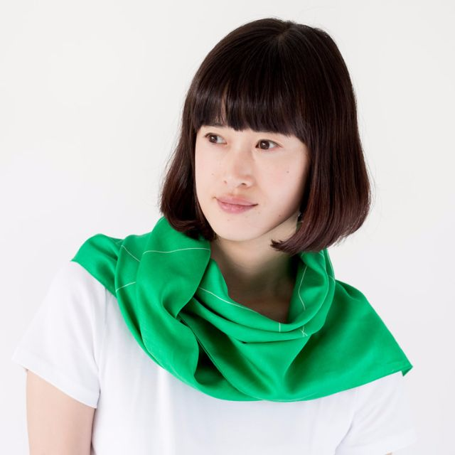 Triangles Furoshiki Scarf — Green