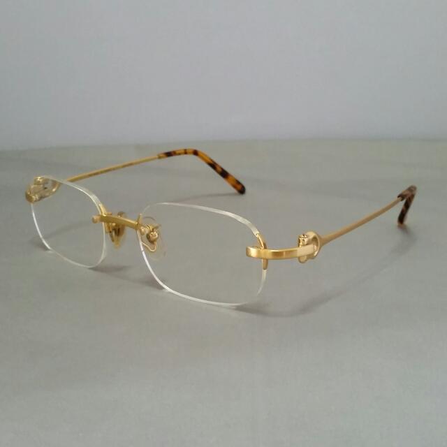 2628b8100f Vintage Cartier 18K Solid Gold Prescription Eyeglasses Frame