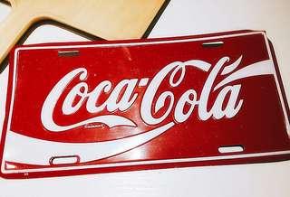coca-cola車牌飾品~可增值