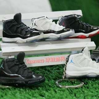 【Germinate-球鞋飾界】Jordan11代立體鑰匙圈吊飾  黑紅,康口(黑白),怪物(黑白藍),傳奇藍(白藍),乾媽(黑藍)AJ 喬單 Jordan鑰匙圈