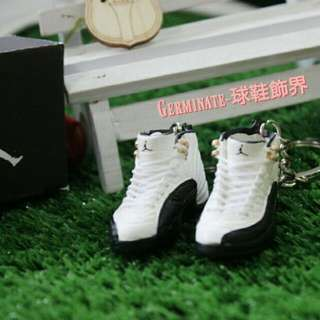 【Germinate-球鞋飾界】Jordan12代立體鑰匙圈吊飾  Taxi(黑白)AJ 喬單 Jordan鑰匙圈