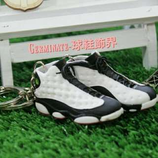 【Germinate-球鞋飾界】Jordan13代立體鑰匙圈吊飾  熊貓(黑白)AJ 喬單 Jordan鑰匙圈