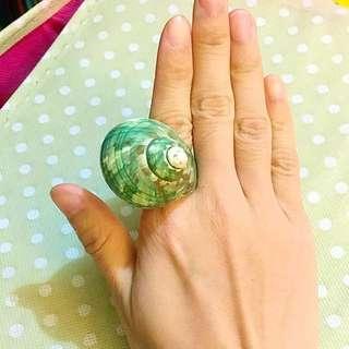 巴黎帶回🌞海螺一體成型戒指