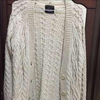 Zara 針織長版外套