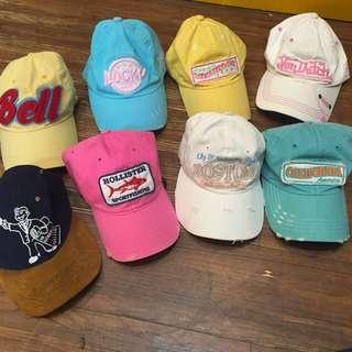 糖果色 老帽 彎帽 古著帽 棒球帽 童趣 字母 街頭風