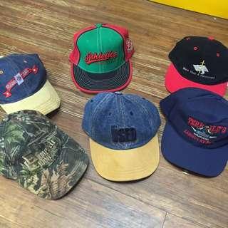 糖果色 老帽 彎帽 古著帽 棒球帽 童趣 字母 街頭風 平簷帽