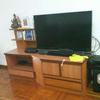 Solid Wood TV Unit For 30