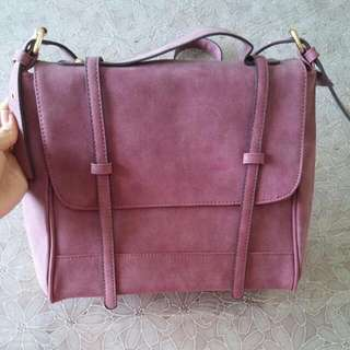 Maroon Purple Satchel