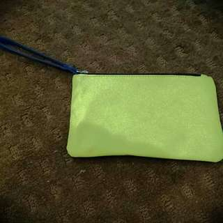 Green/blue Clutch Bag