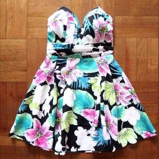 CityBeach Mooloola Black Floral Dress
