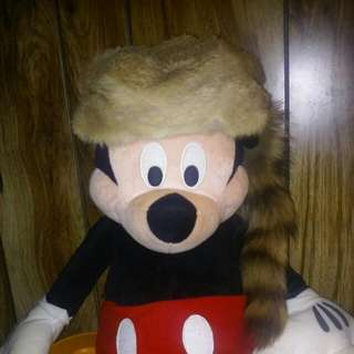Daniel Boone Real Racoon Hat.adult Small.real Fur (mickey Not For Sale)