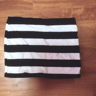 Factorie Striped Tube Skirt
