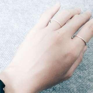 戒指(925純銀)經典極細線戒