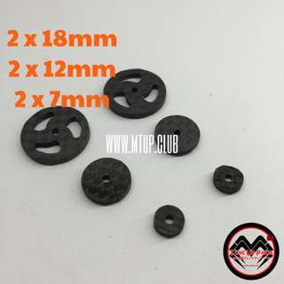 1.5mm Customised HG Carbon Stabilising Head Set For Tamiya Mini 4WD