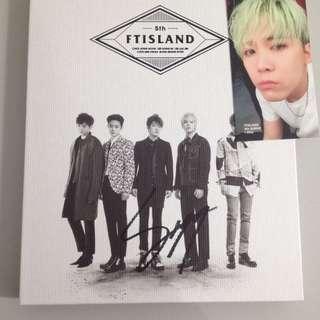 FTIsland - I will (Seung Hyun signed)