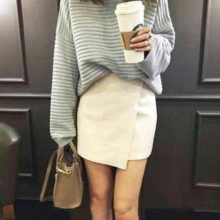 超美絨布不規則顯瘦短裙