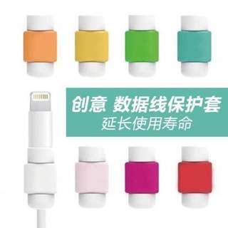 (預購)創意可愛蘋果傳輸線保護套iphone5/5S/6/Plus傳輸線保護繩器