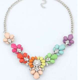 Multi-Colour Statement Necklace