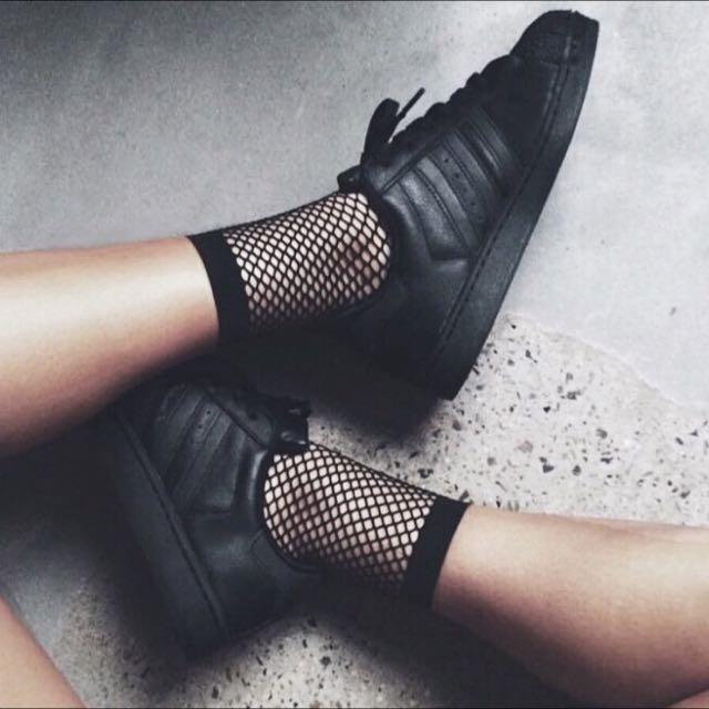🕷️歐美暗黑短網襪