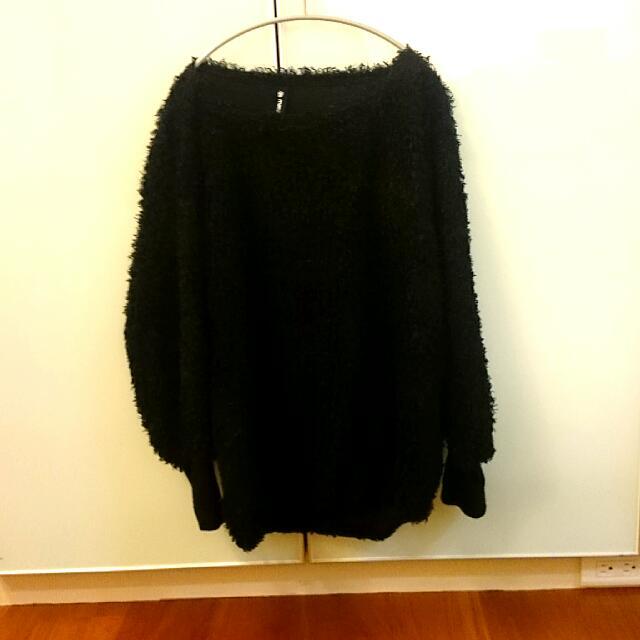 (二手)黑色捲捲上衣