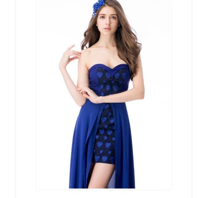 心型可拆式禮服 洋裝