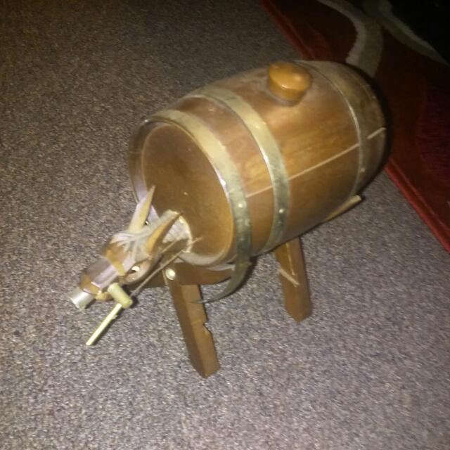 Antique Horse Wine Barrel