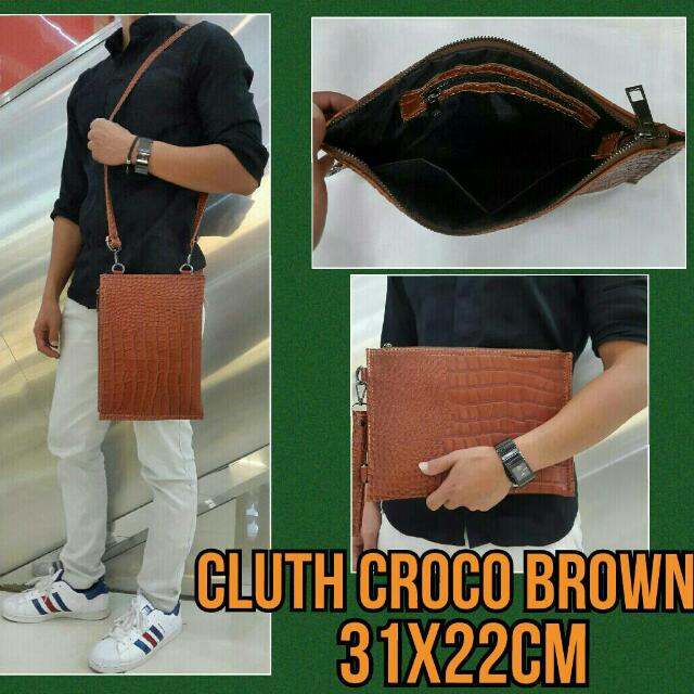Clucth Croco Brown