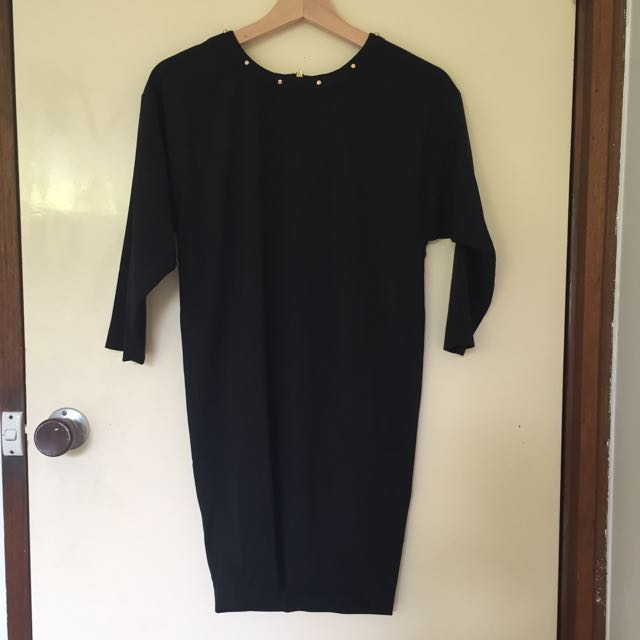 H&M Black Cocktail Dress with Gold Detailing