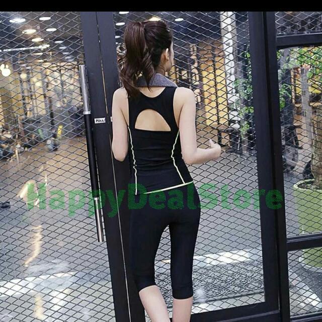 Korea Style Yoga Pant/Korea Style Sleeveless Top/Yoga Top