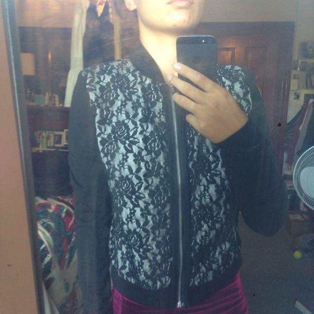 Lace Detail Jacket Size 8