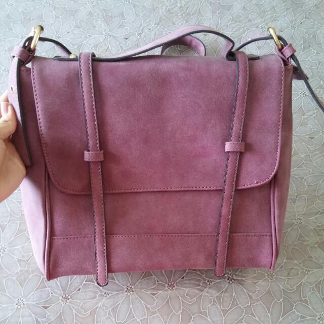 Maroon Purple Satchel
