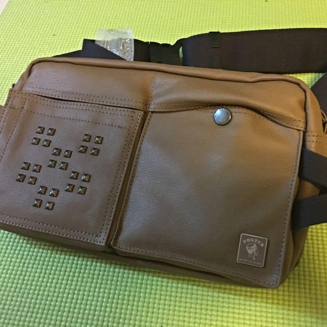 Porter 腰包 6折便宜售 咖啡色