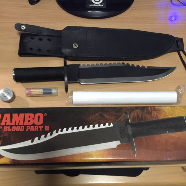 Rambo First Blood Part 2 Knife, Sports on Carousell