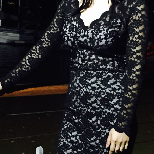 Size 8 Black Lace Dress