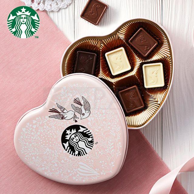 STARBUCKS 糖霜青鳥心型巧克力禮盒 2016年限定版