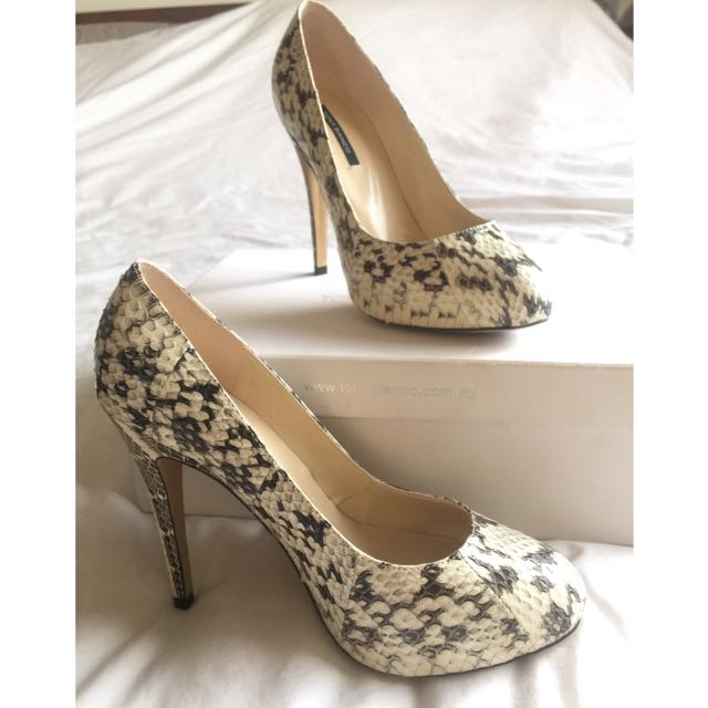 Tony Bianco Snake Skin Printed Heels | Size 7