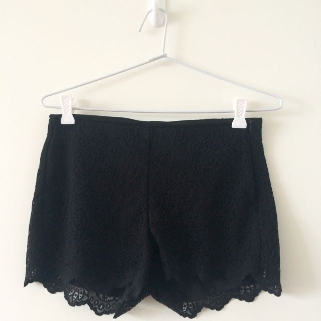 Zara TRF Lace Shorts