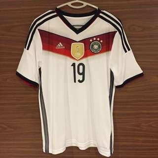 Germany Home 2014 World Cup Shirt - Gotze 19