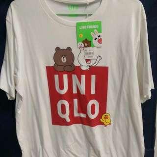 全新uniqlo Line 短t XL號