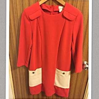 時尚正紅挺洋裝
