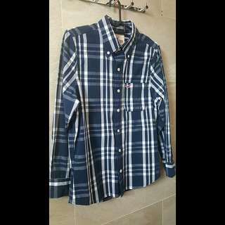 Hollister® Naval Blue Checked