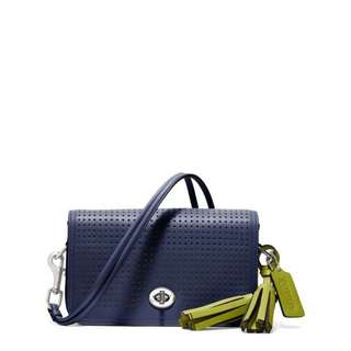 Coach Leather Navy Side Bag