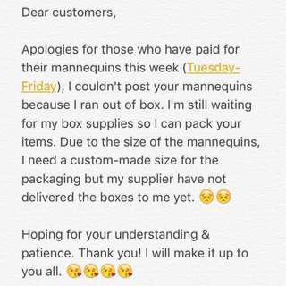 Shipping Delay Notice