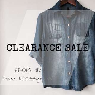 CLEARANCE SALE FROM $2