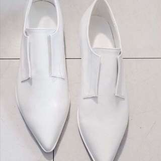 Room4白色紳士鞋/尖頭鞋/牛津鞋/nude