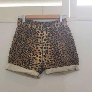 Leopard Print Denim Seafolly Shorts